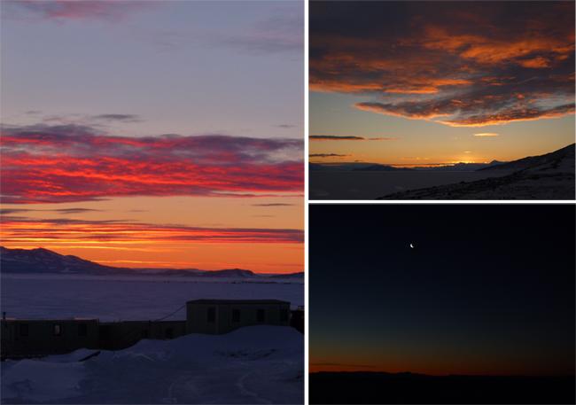 Couchers de soleil en Antarctique