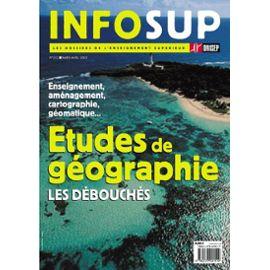 Débouchés des études en géographie