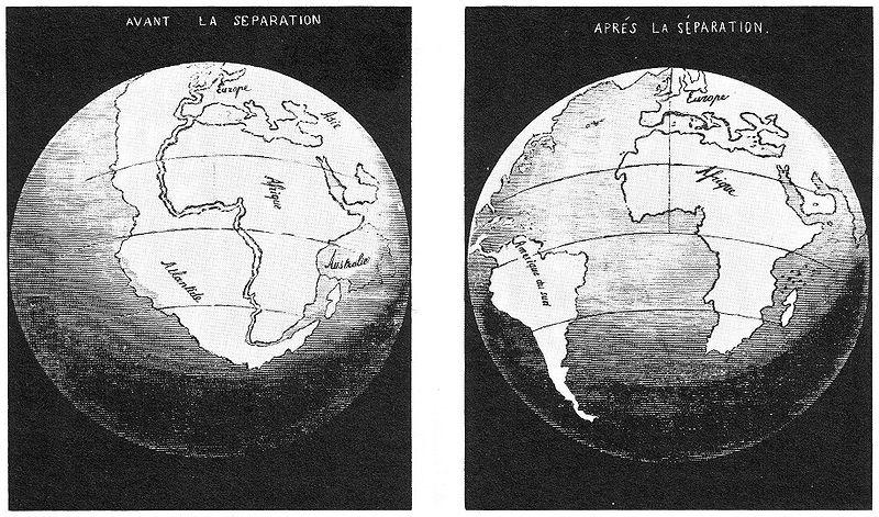 Dérive des continents par Snider-Pellegrini