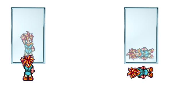 Sciences claires pourquoi un miroir n inverse t il pas for Miroir miroir wiki