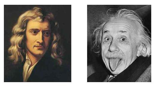 Newton et Einstein