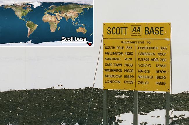 Distances depuis Scott Base